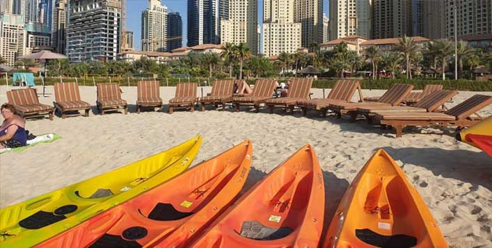 Kayaking  at JBR Beach