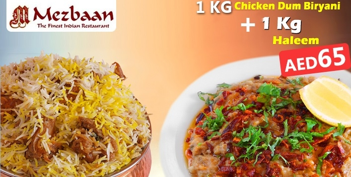 Chicken Dum Biryani and Haleem